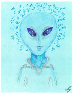 ARCTURIAN/ZETA HYBRID ~ Zan Tu Kai (androgynous) ~ Cosmic Portrait